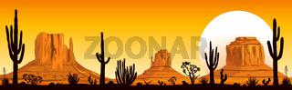 Sunset in the Arizona desert