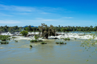 Khone Phapheng Falls on the Mekong River in southern Laos.