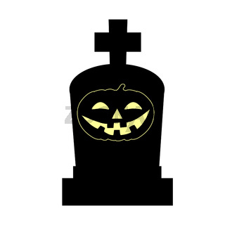 Halloween grave symbol holiday silhouette