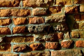 Backsteinmauer; Ziegelmauer
