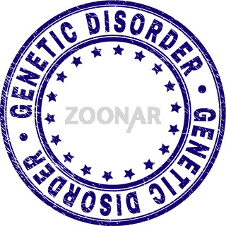 Scratched Textured GENETIC DISORDER Round Stamp Seal