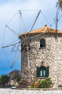Old windmill in Skinari Cape