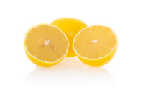 Fresh lemon with half