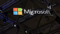 KÖLN, September 2019: Microsoft Logo an Decke