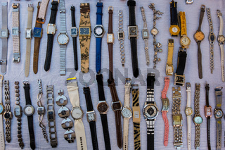 Wrist clocks for sale.