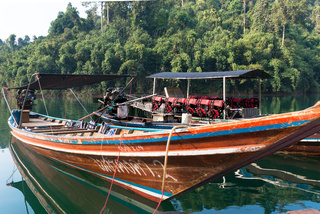 Cheow Lan lake in the national park Khao Sok in Thailand