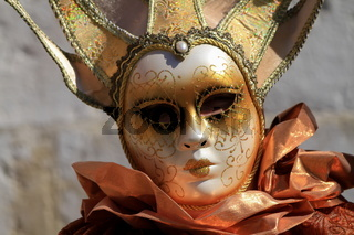 very beautiful mask and carnival makeup in Annecy