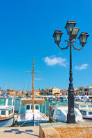 Port and seafront in Aegina town