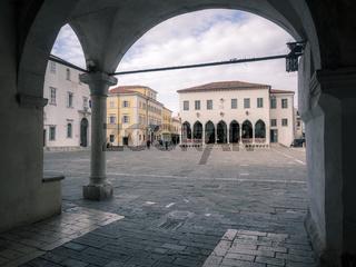 Venezian loggia at main place in Koper Slovenia