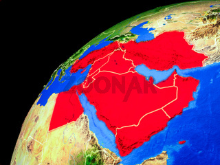 Middle East on Earth from space