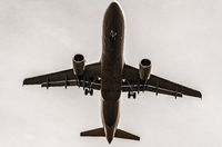 Airplane, Aircraft bottom, flying, take-off, landing