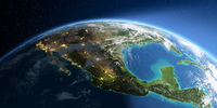 Detailed Earth. North America. Mexico