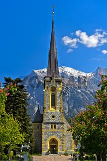 Evangelisch-reformierte Kirche, Bad Ragaz, Kanton St. Gallen, Schweiz