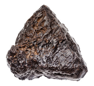 rough Hematite stone isolated on white