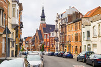 Brussels traditional architecture street Belgium