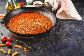 Italian bolognese sauce