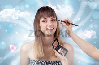Pretty girl portrait in beauty salon