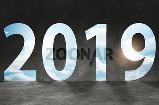 2019 in the concept of transition to new year