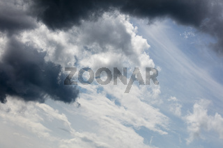 Dramatic blue sky with clouds summer mood background fine art in high quality prints products fifty megapixels