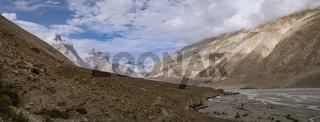 Panorama of Karakoram Mountains