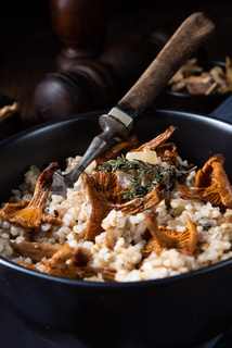 Kaszotto- polish risotto from barley groats with mushrooms