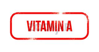 Vitamin A - roter abgenutzter Stempel