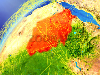 Sudan on Earth with network