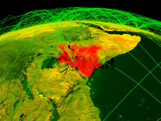 Kenya on digital globe