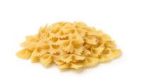 Pile of uncooked farfalle pasta