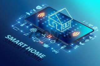 Smart home concept - 3d rendering