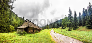 Old Wooden log building Tatra Mountains, Poland