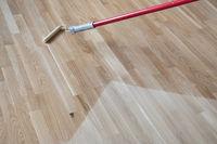 Lacquering Varnishing Parquet Floor