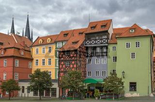 market square in Cheb, Czech republic