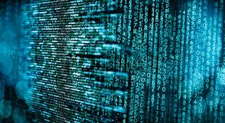 Programmiercode und Matrix