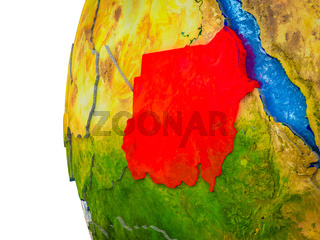 Sudan on 3D Earth