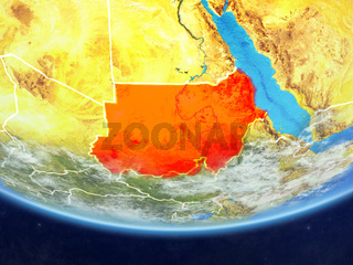 Sudan from space on Earth