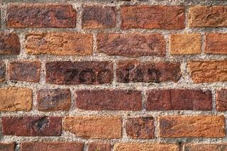 Detail einer historischen Mauer in Havelberg