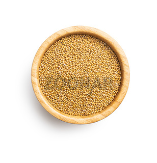 Yellow mustard seeds.