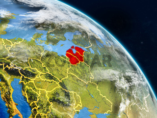 Baltic States from space