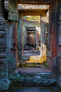 Ancient doorways in Angkor Wat