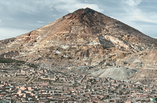 El Cerro Rico which translates ' the rich hill' stands above what was once the largest silver deposi