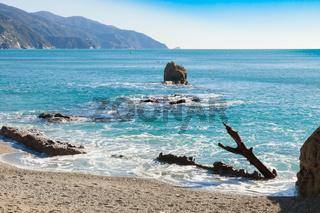 Ligurian coast mediterranean panorama