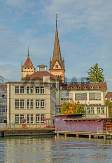 Schaffhausen am Hochrhein mit St. Johann und Münster Allerheiligen