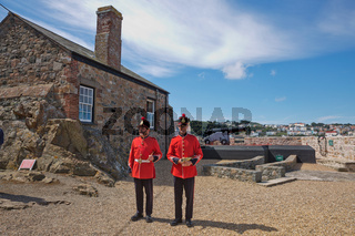 Guards Firing The Noon Day Gun At Castle Cornet, St. Peter Port, Guernsey, Channel Islands