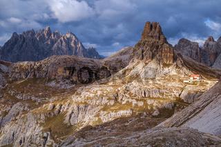 Dolomites mountain panorama,Italy