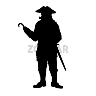 Halloween pirate symbol holiday silhouette