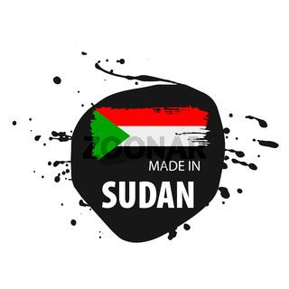 Sudan flag, vector illustration on a white background