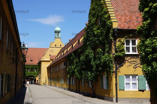 Fuggerei, Augsburg, Bavaria, Germany