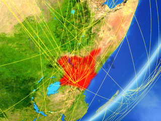 Kenya on Earth with network