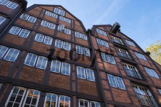 Hamburg - Historische Fachwerkhäuser, Deutschland
